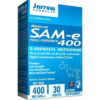 Jarrow Formulas SAM-e 400, 400 MG (30 Tablets)