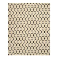 Hand-tufted Wool Ivory Transitional Geometric Chain-Link Rug (4' x 6') - 4' x 6'