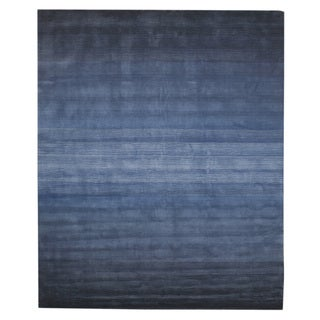EORC Hand-tufted Wool Blue Blue Horizon Rug (8'9 x 11'9)
