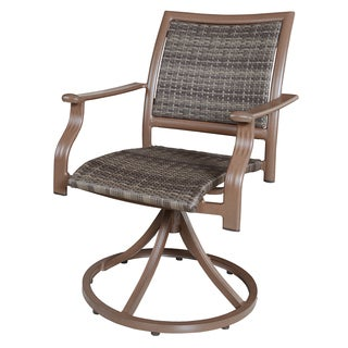 Panama Jack Island Cove Woven Swivel Armchair (Set of 2)