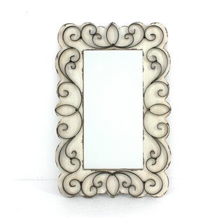 Mirror with Wood and Metal Accents