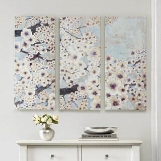 Madison Park Norm Wyatt Jr 'Gleeful Bloom Set' 3-piece Printed Embellished Canvas Set