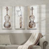 Carbon Loft 'Violin Study Set' Printed Embellished Canvas 3-piece Set