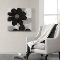Madison Park Ivo Stoyanov 'Midnight Bloom' Canvas with Hand Embellishment