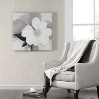 Silver Orchid Madison Park Ivo Stoyanov 'Midday Bloom' Embellished Canvas