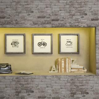 """Intelligent Design Valentina """"Morning News"""" Framed Gel Coated Paper 3-Piece Set"""