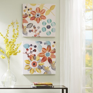"Intelligent Design Karin Johannesson ""Sweet Florals"" Embellished Canvas 2-Piece Set"