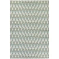 Couristan Monaco Avila/Blue Mist-Ivory Indoor/Outdoor Area Rug - 5'10 x 9'2