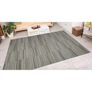 "Cape Hyannis/Black-Gold 7'10"" x 10'9"" Rug"