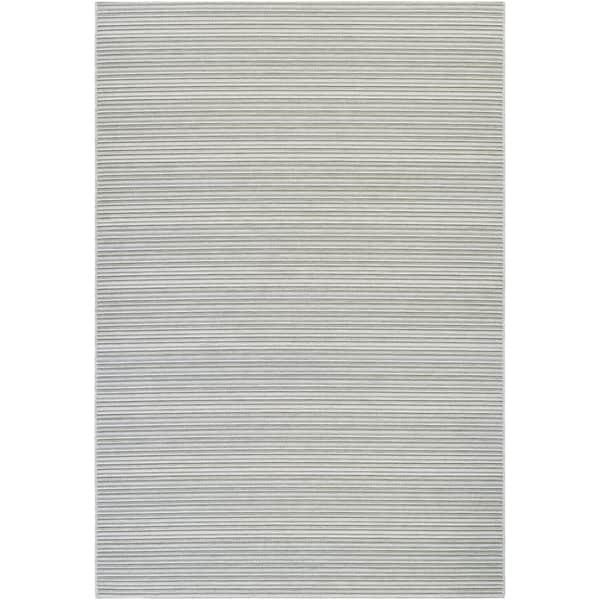 Vector Tybee Blue-Silver Indoor/Outdoor Area Rug - 7'10 x 10'9