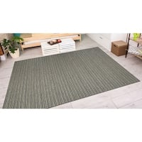 Vector Tybee Black-Gold Indoor/Outdoor Area Rug - 7'10 x 10'9