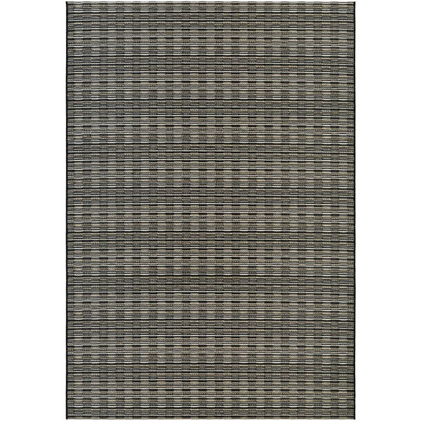 Vector Camden Black-Tan Indoor/Outdoor Area Rug - 7'10 x 10'9
