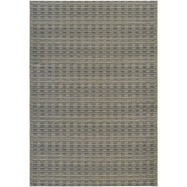 Vector Camden Black-Gold Indoor/Outdoor Area Rug - 7'10 x 10'9