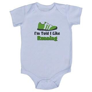 Rocket Bug 'I'm Told I Like Running' Baby Bodysuit
