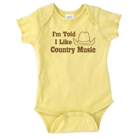 Rocket Bug 'I'm Told I Like Country Music' Baby Bodysuit