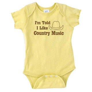Rocket Bug 'I'm Told I Like Country Music' Baby Bodysuit (4 options available)
