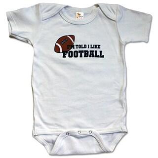 """Rocket Bug """"I'm Told I Like Football"""" Baby Bodysuit"""