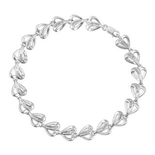 Divina Sterling Silver 1/2ct TDW Diamond Heart Bracelet