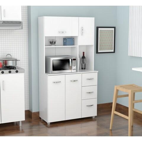 Inval America LLC Laricina White Kitchen Storage Cabinet