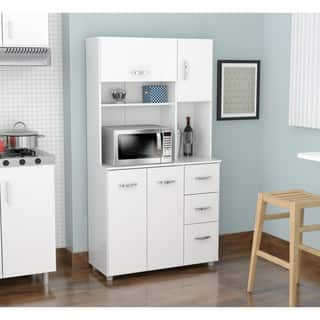 Laricina White Kitchen Storage Cabinet|https://ak1.ostkcdn.com/images/products/9988425/P17139030.jpg?impolicy=medium
