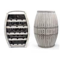 Charcoal Barrel Wine Rack