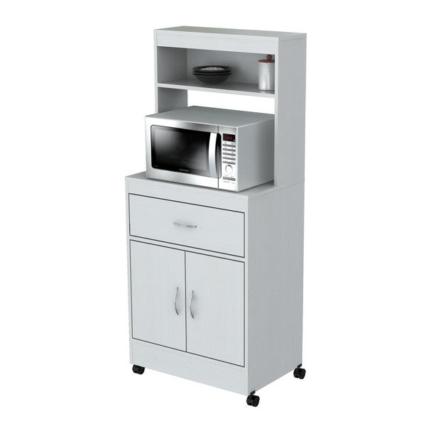 Inval Microwave Cart With Storage Free Shipping Today 17139054