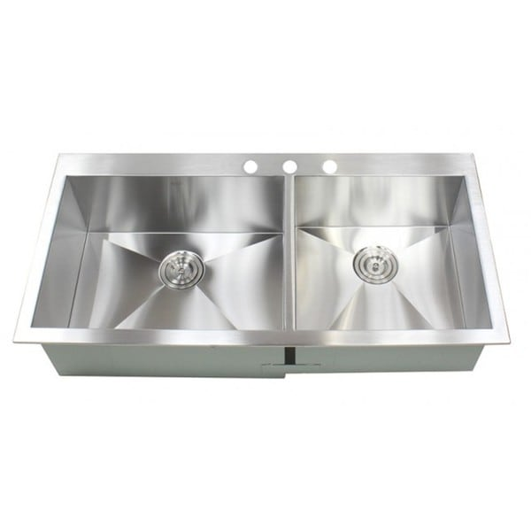 43 Inch Stainless Steel Single Bowl Topmount Drop In Zero Radius Kitchen  Island Bar