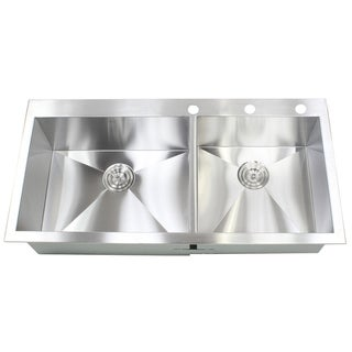 43-inch Stainless Steel Single Bowl Topmount Drop-in Zero Radius Kitchen Island Bar Sink 16 Gauge