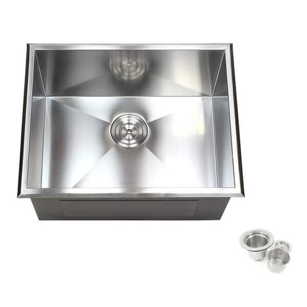 Shop 23 inch Stainless Steel Single Bowl Topmount Drop in Zero