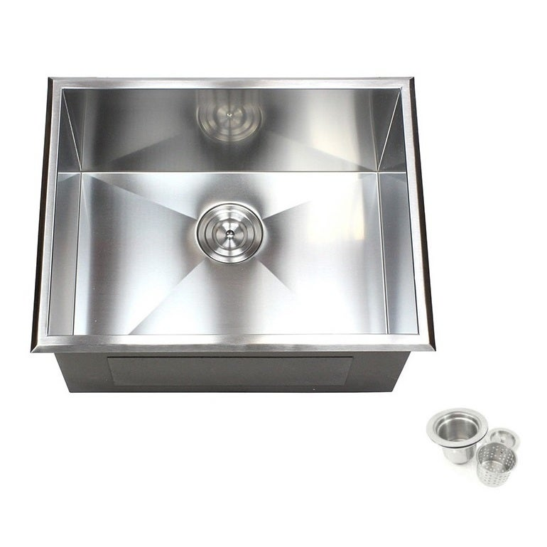 23-inch Stainless Steel (Silver) Single Bowl Topmount Dro...
