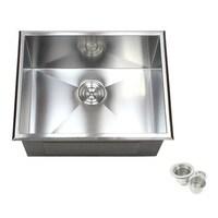Shop 19-Inch 16 Gauge Stainless Steel Topmount Drop-In Kitchen ...