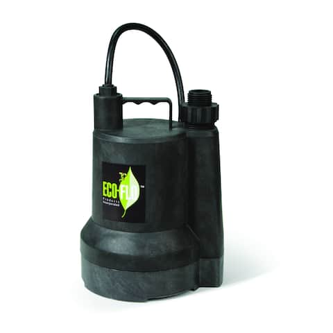 ECO-FLO Products SUP55 1/4 HP Manual Thermoplastic Submersible Utility Pump