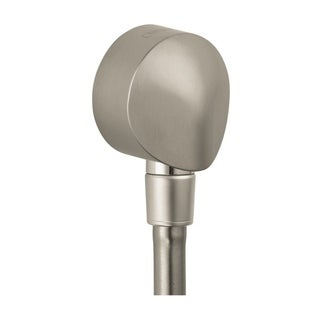 Hansgrohe Wall Outlet with Dual Check Valve Brushed Nickel