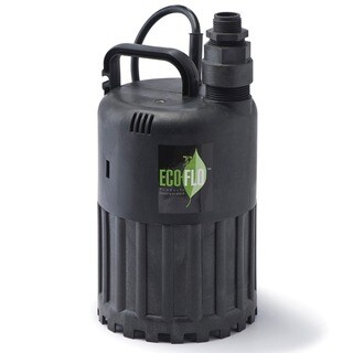 ECO-FLO SUP56 1/3 HP Manual Thermoplastic Submersible Utility Pump