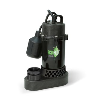 ECO-FLO SPP25W Thermoplastic 1/4 HP Sump Pump with Wide Angle Switch