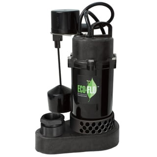 ECO-FLO SPP33V Thermoplastic 1/3 HP Sump Pump with Vertical Angle Switch