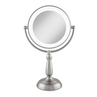 Zadro Dimmable Touch Dual-sided 1x/2x Magnification LED Lighted Mirror