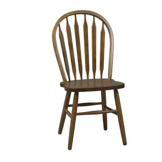 Nostalgia Traditional Oak Arrowback Windsor Side Chair