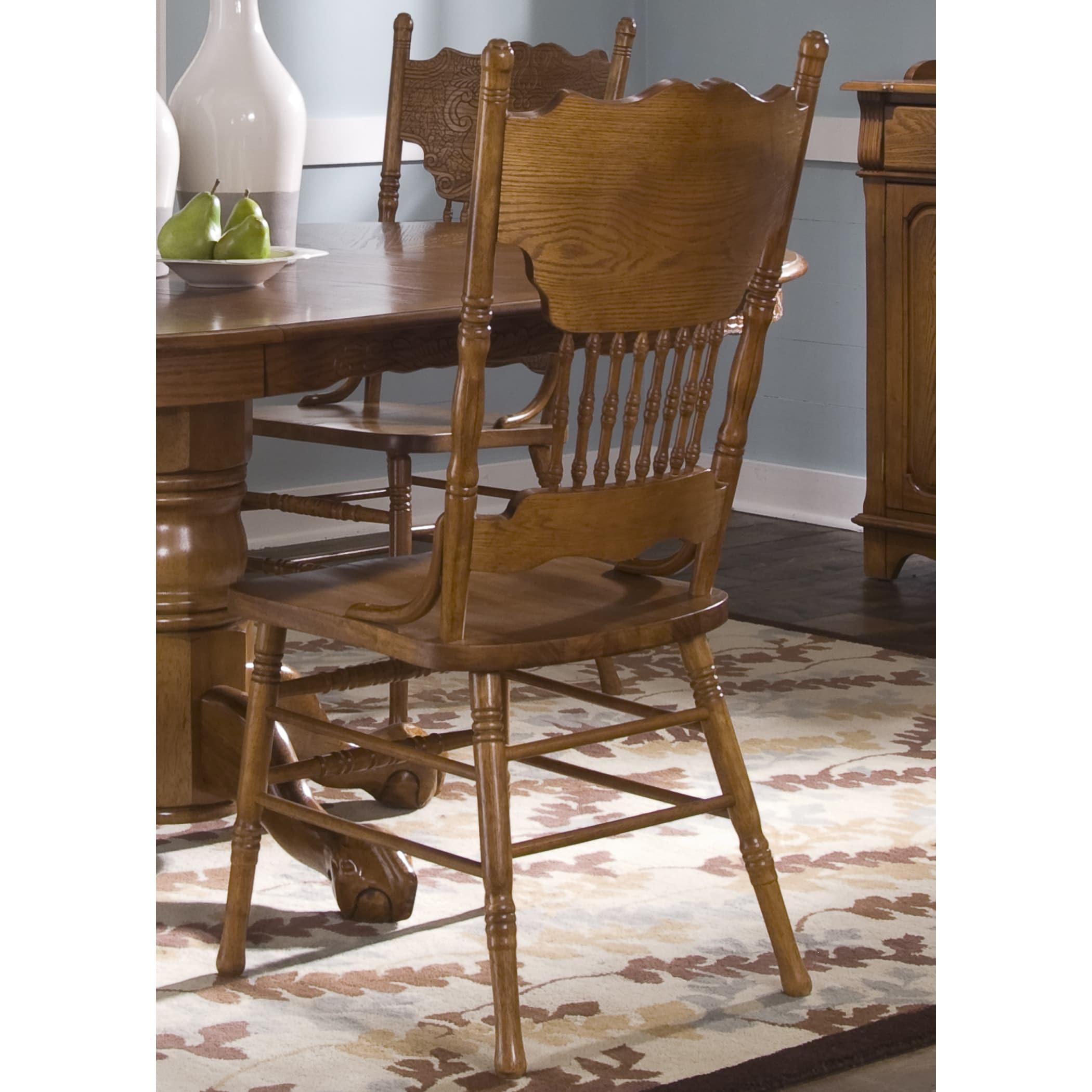 Liberty Nostalgia Traditional Oak Double Press Back Dinin...