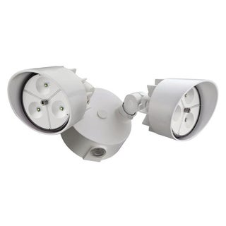 Lithonia Lighting Outdoor 2-head 5000K LED White Floodlight