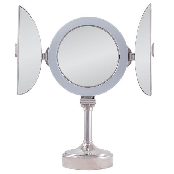 Zadro 1x 10x next generation led vanity mirror - Zadro Surround Lighted Tri Fold Dual Sided Vanity Mirror