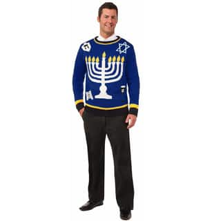 Hannukah Blue Ugly Christmas Sweater|https://ak1.ostkcdn.com/images/products/9988747/P17139290.jpg?impolicy=medium