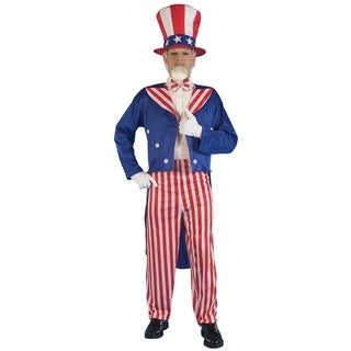 Adult Uncle Sam Red White and Blue Stripe Costume