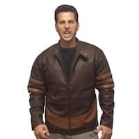 X-Men Wolverine Faux Leather Brown Jacket
