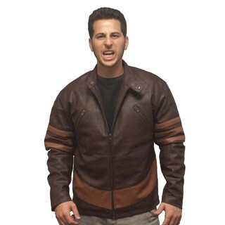 X-Men Wolverine Faux Leather Brown Jacket