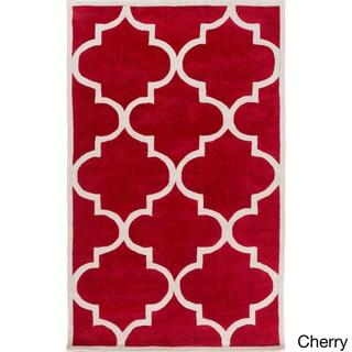 Artfully Crafted Mya Geometric Area Rug (8 x 11 - Cherry)