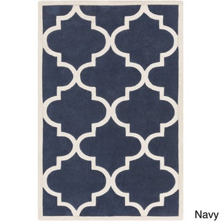 Artfully Crafted Mya Geometric Area Rug (8 x 11 - Navy)