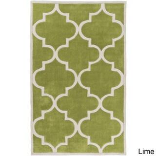 Artfully Crafted Mya Geometric Area Rug (8 x 11 - Lime)