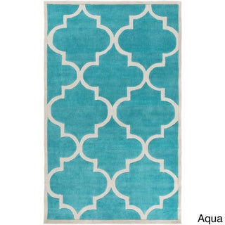 Artfully Crafted Mya Geometric Area Rug (8 x 11 - Aqua)