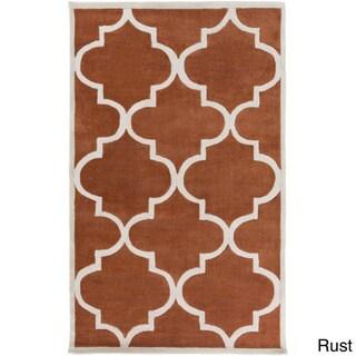 Artfully Crafted Mya Geometric Area Rug (8 x 11 - Rust)